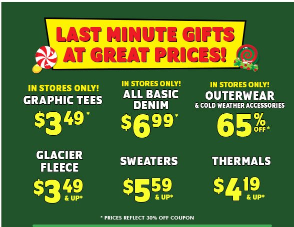 Last Minute Gifts At Great Prices!