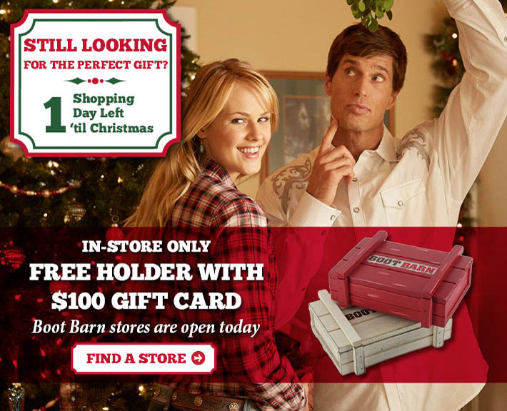 In-Store Only - Free Holder With $100 Gift Card