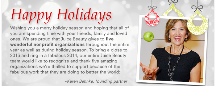 Happy Holidays From All Of Us At Juice Beauty