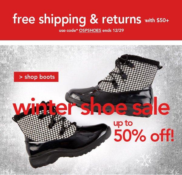 Shop Winter Shoe Sale