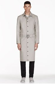 ADIDAS BY TOM DIXON Grey Reversible Water Resistant Trench Coat for men