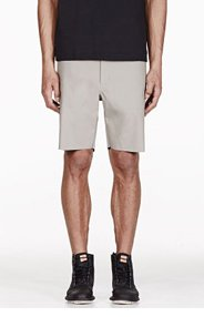 ADIDAS BY TOM DIXON Grey Reversible Raw Edge Shorts for men