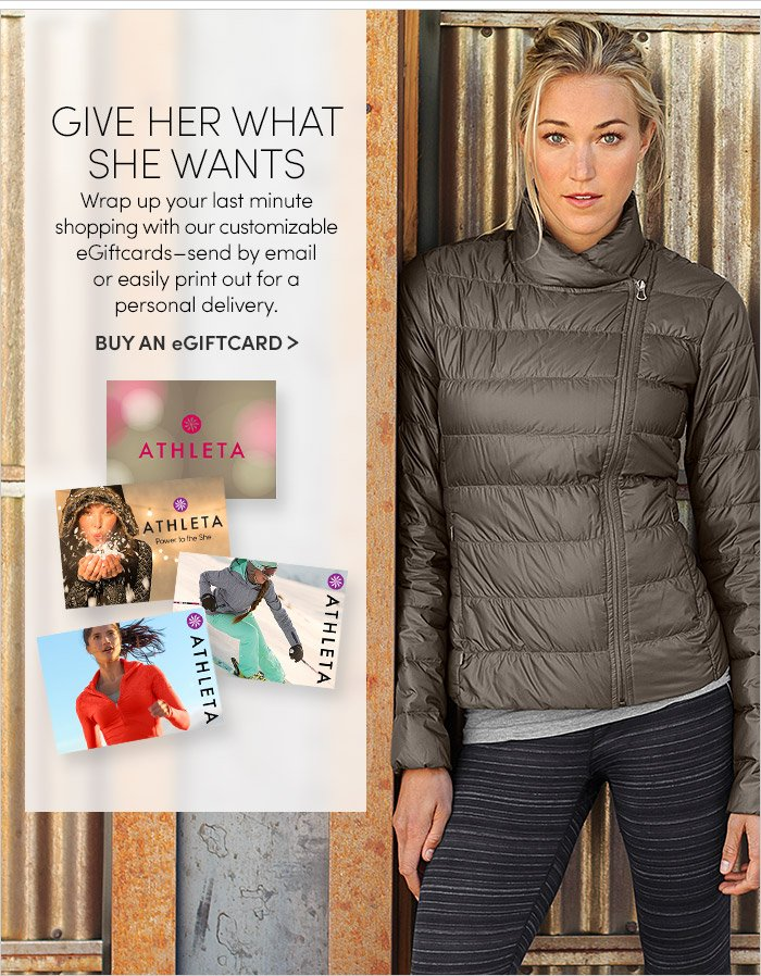 GIVE HER WHAT SHE WANTS | BUY AN eGIFTCARD