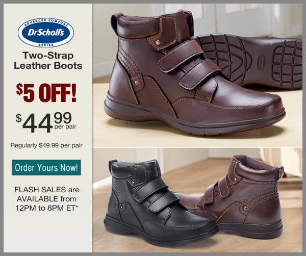 $5 OFF Two-Strap Leather Boots
