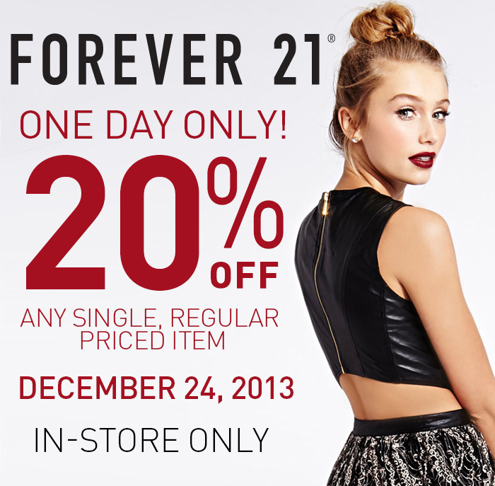 20% Off Any Single Regular Priced Item