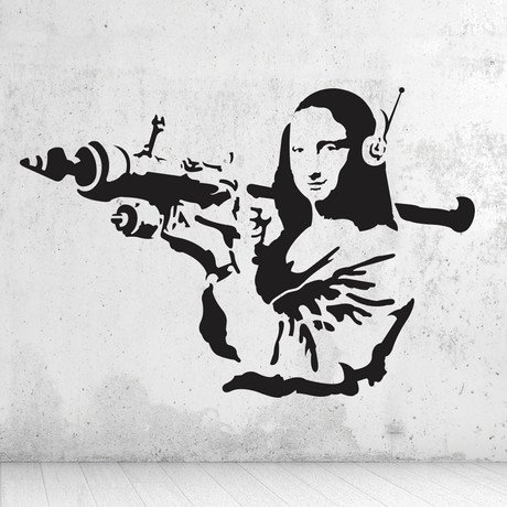Mona Lisa Rocket by Banksy