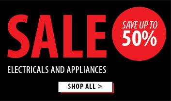 Save up to 50% off electricals and appliances