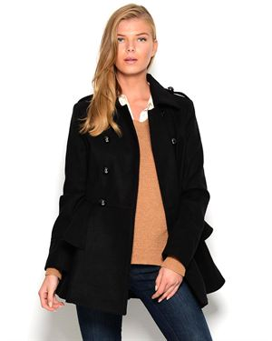 Miss Sixty Double Breasted Peplum Coat