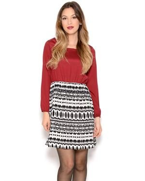 COII Printed Long Sleeve Dress- Made in USA