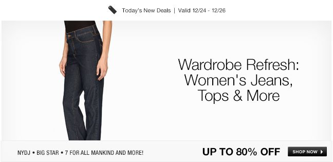 Wardrobe Refresh: Womens Jeans, Tops and More