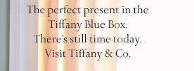 The perfect present in the  Tiffany Blue Box. There's still time today. Visit Tiffany & Co.