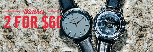 Shop 2 for $60: Must-Have Watches