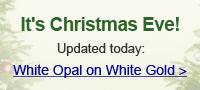 White Opal on White Gold