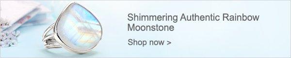 Shimmering Authentic Rainbow Moonstone