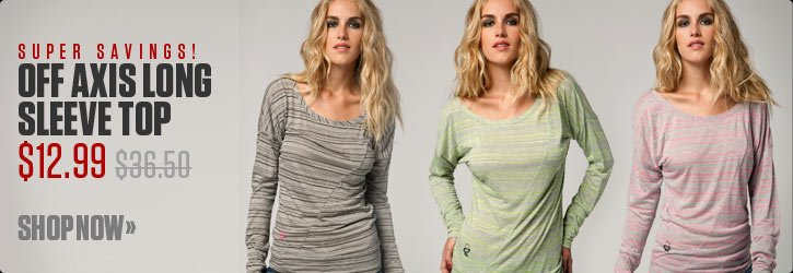 Off Axis Long Sleeve Top