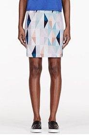 MOTHER OF PEARL Grey Crepe De Chine patterned Vida Skirt for women
