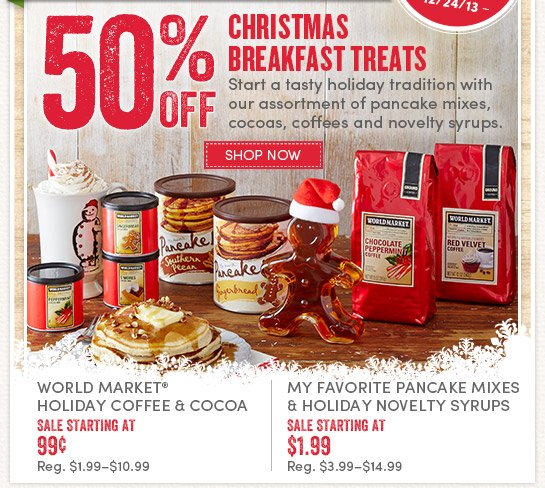 Today Only - 12/24! Save 50% on Christmas Breakfast Treats