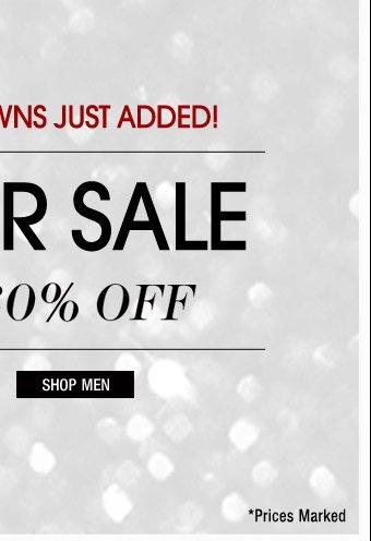 Winter Sale - Shop Men