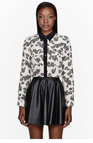 MARC BY MARC JACOBS Cream Silk Crepe Rae Rae Tulip Blouse for women