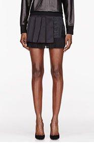NEIL BARRETT Raw Cut Modernist Multi-pleat Skirt for women
