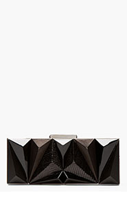 GIVENCHY Black leather prism Minaudiere for women