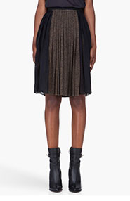 GIVENCHY Brown Combo Tweed Pleated Skirt for women