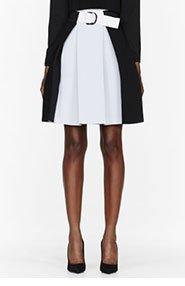 DENIS GAGNON Black and white high-waisted pleated skirt for women