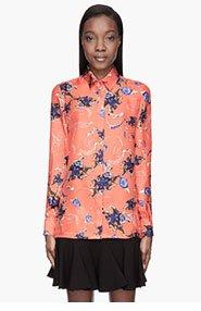 ALTUZARRA Poppy red and indigo Ramya blouse for women