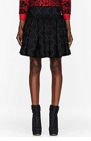 ALEXANDER MCQUEEN Black jacquard skirt for women
