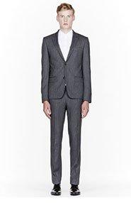 KENZO Grey Slim Classic Suit for men