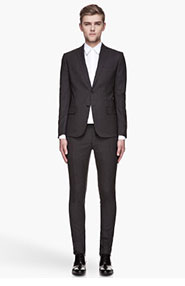 DSQUARED2 Charcoal grey wool two-button suit for men