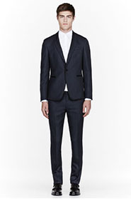 PAUL SMITH LONDON Navy pindot tuxedo for men