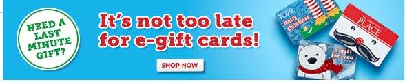 E-Gift Cards!