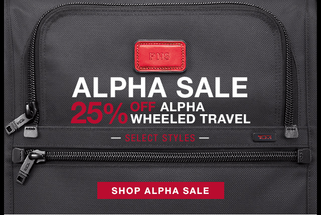 Alpha Sale - 25% off Alpha Wheeled Travel - Shop Now