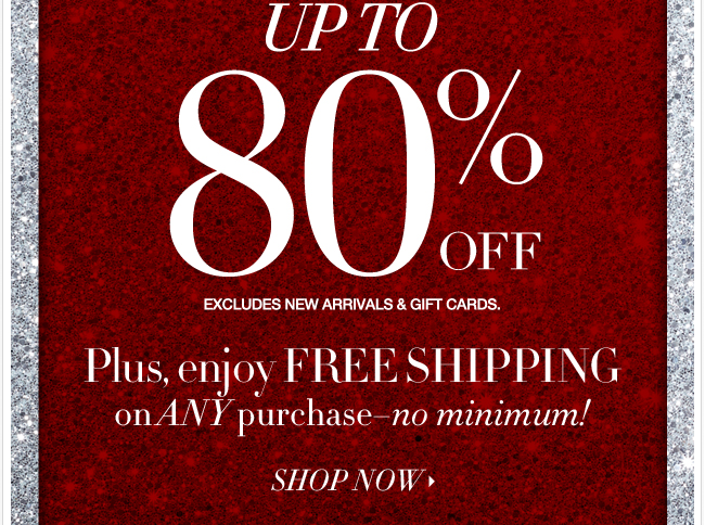 Shop Our Big Big Sale Online + FREE Shipping!