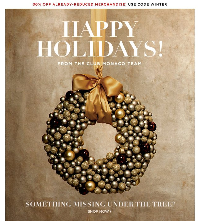 Happy Holidays, From Us To You!