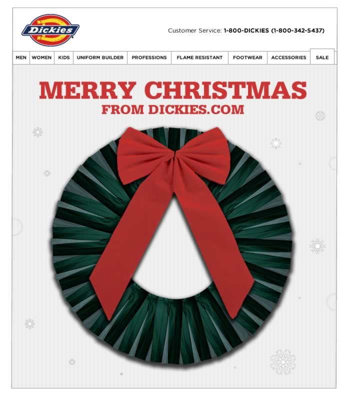 Merry Christmas from Dickies.com