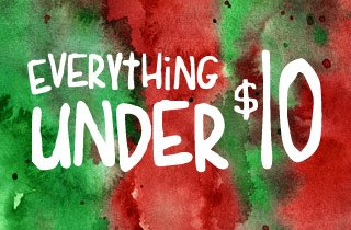 Everything under $10
