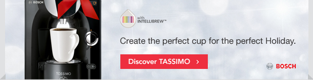 Create the perfect cup for the perfect Holiday. Discover TASSIMO.