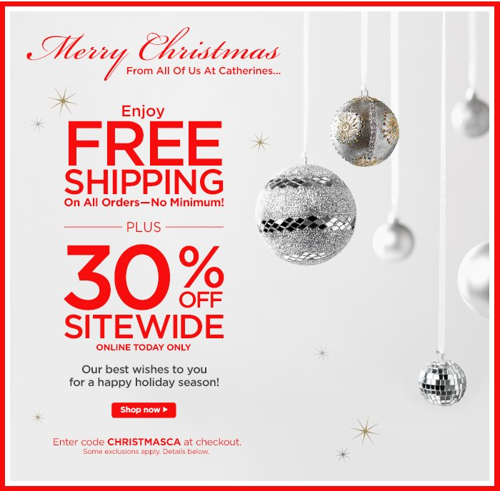Free Shipping + 30% off!