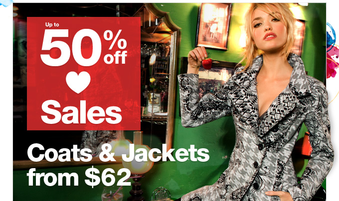 Coats & Jackets from $62