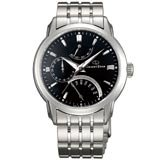 Orient DE00002B Men's Retrograde Automatic Black Dial Stainless Steel Power Reserve Watch