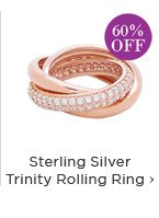 Sterling Silver Trinity Rolling Ring