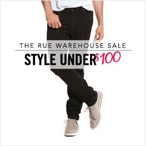 The Rue Warehouse Sale: Men's Style Under $100
