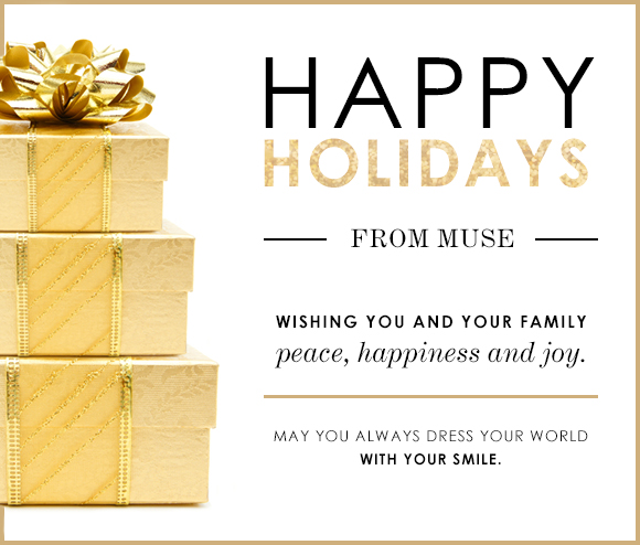 Happy Holidays! from Muse Apparel