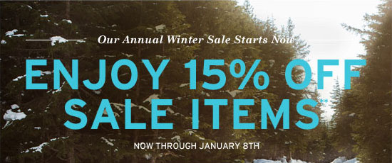 Enjoy 15% off sale items