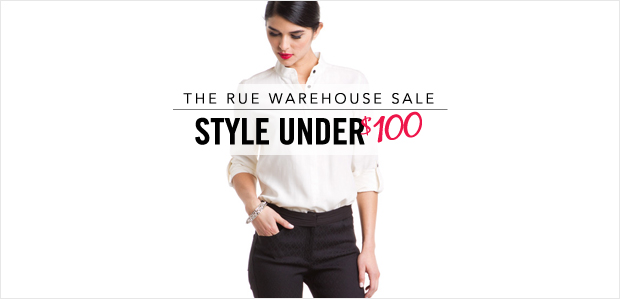 The Rue Warehouse Sale: Style Under $100