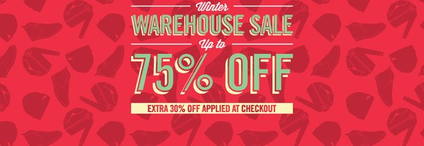 Shop Extra 30% Off: Winter Warehouse Sale