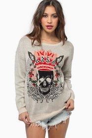 Crown My Skull Sweater