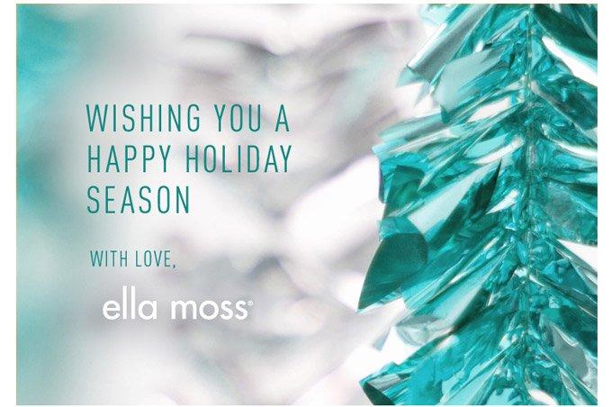 Wishing you a happy holiday season!